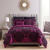 VCNY Home Tayden Flocked 7-piece Comforter Set