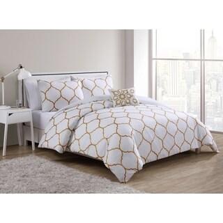 VCNY Home Ogee 4-piece Comforter Set