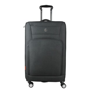 Swissdigital Sion Upright Expandable 28-inch Suitcase in Grey