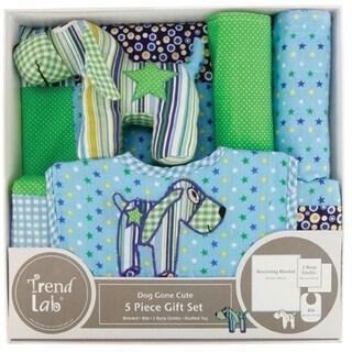 Trend Lab 5 Piece Gift Set - Dog Gone Cute