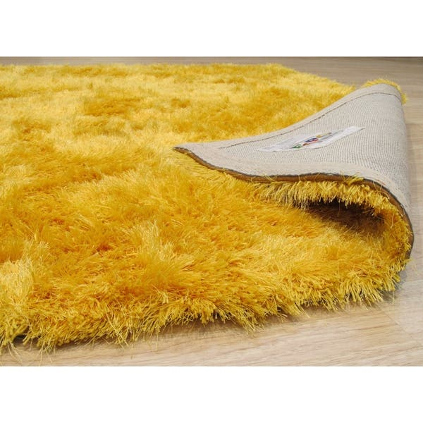 Handmade Yellow Solid London Shag Rug On Sale Overstock 18543752