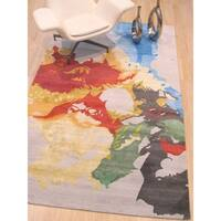 Hand-tufted Multicolored Contemporary Abstract Palermo Rug