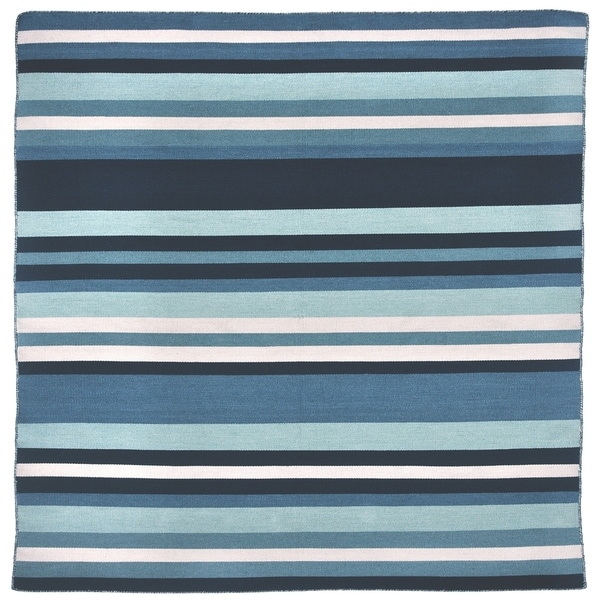 Liora Manne Sorrento Tribeca Indoor/Outdoor Rug Water 8' SQ