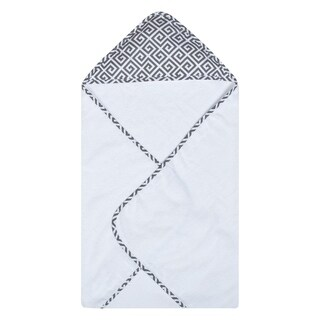 Trend Lab Gray Greek Key Deluxe Hooded Towel