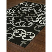 Addison Taylor Iron Scroll Night/Grey Area Rug (9' x 13')