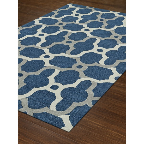 Addison Rugs Taylor Moroccan Blue Grey Off White Acrylic Area Rug 9