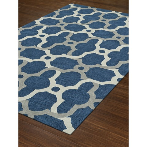 Addison Rugs Taylor Moroccan Blue/Grey/Off-white Acrylic Area Rug (9' x 13')