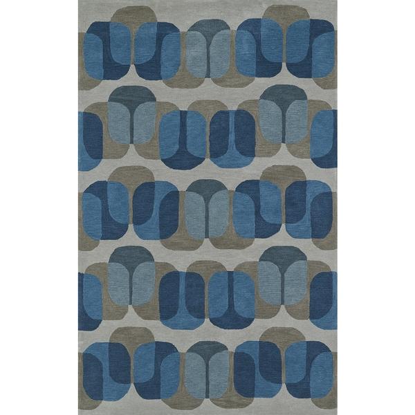Addison Taylor Modern Geometric Blue/Gray Area Rug