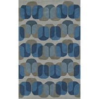 Addison Taylor Modern Geometric Blue/Gray Area Rug