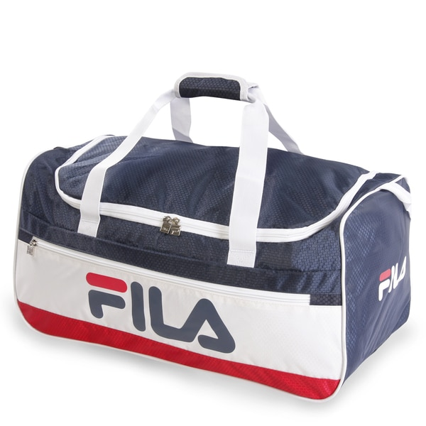 Shop Fila Baywood Medium Sports Duffel Bag - Free Shipping On Orders ... ceef42951a896