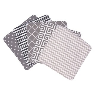 Trend Lab Ombre Gray 5 Pack Wash Cloth Set