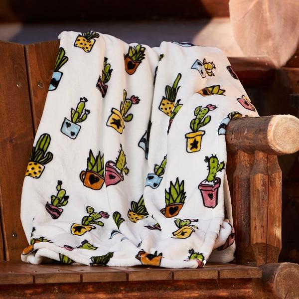 Berkshire Blanket Cozy Cacti Oversized Throw - Free Shipping On ...
