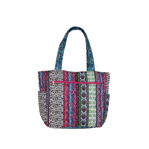 World Traveler Basics Quilted 15-Inch Artisan Collection Tote Bag