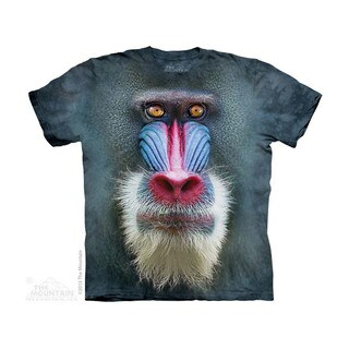 THE MOUNTAIN BIG FACE MANDRILL BABOON YOUTH T-SHIRT