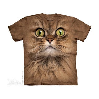 THE MOUNTAIN BIG FACE BROWN CAT YOUTH T-SHIRT