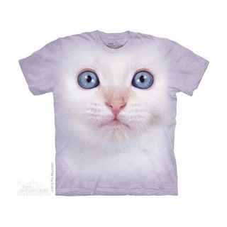 THE MOUNTAIN WHITE KITTEN FACE YOUTH T-SHIRT