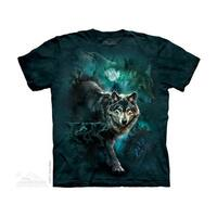 THE MOUNTAIN NIGHT WOLVES COLLAGE YOUTH T-SHIRT