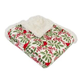 Berkshire Blanket Holly Jolly Holly Reversible Throw