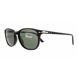 Persol PO 3133 S 901431 Mens Black Frame Green Crystal Lens Sunglasses