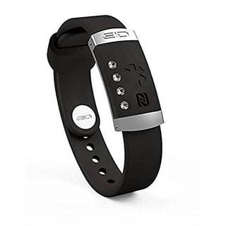 Endless ID Tracking & Medical Bracelet Band | Wear Your Personal Medical ID Card Swarovski Crystals Black