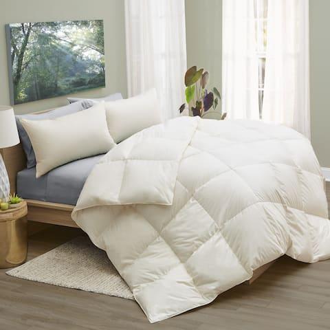 1221 Bedding LanaDown Wool/ Down Organic Cotton Comforter with BONUS Wool Dryer Balls