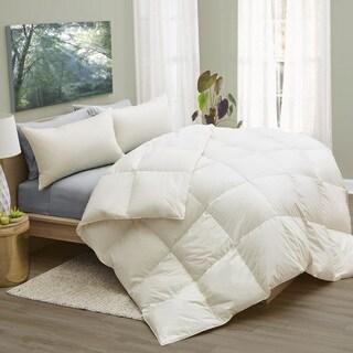 1221 Bedding LanaDown Wool/ Down Organic Cotton Comforter with BONUS Wool Dryer Balls (3 options available)