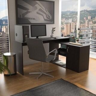 Wengue Espresso L-Shaped Corner Desk