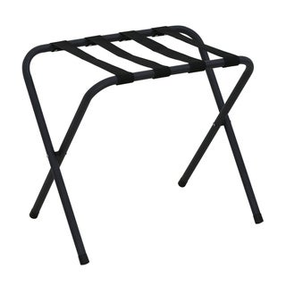 Furinno Foldable Luggage Rack, FLR1601 Black, Set of 2