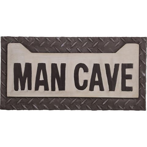 Transpac Metal Man Cave Sign 18.25-Inch