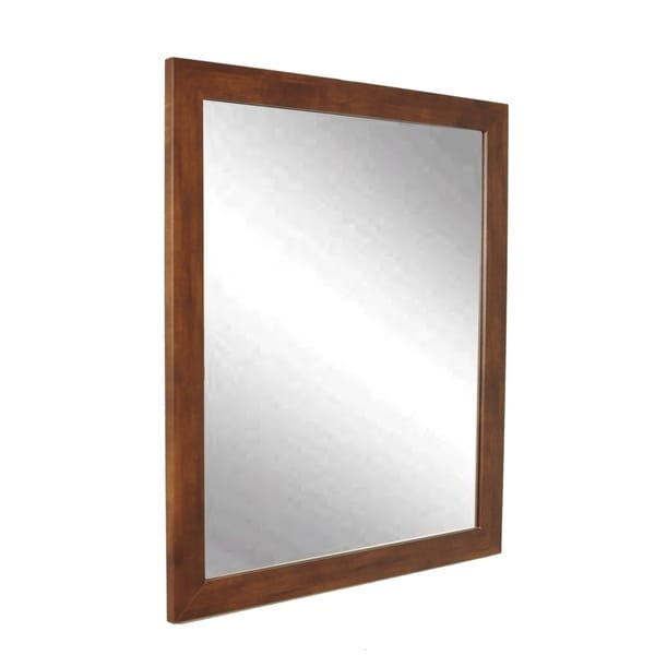 Modern Mocha Brown Wall Mirror
