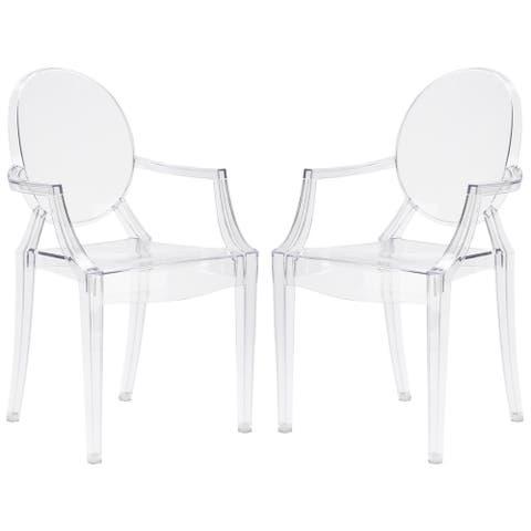 Edgemod Burton Arm Chair In Clear (Set of 2)