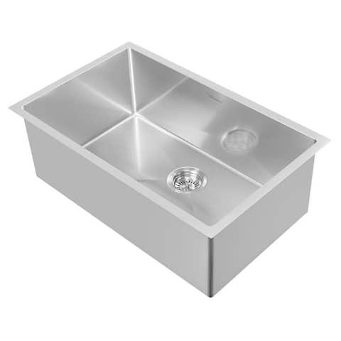 Whitehaus Collection Noah Plus Stainless Steel Undermount Kitchen Sink