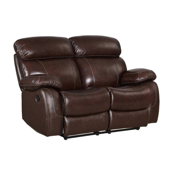 Shop Madras Leather Power Recliner Loveseat