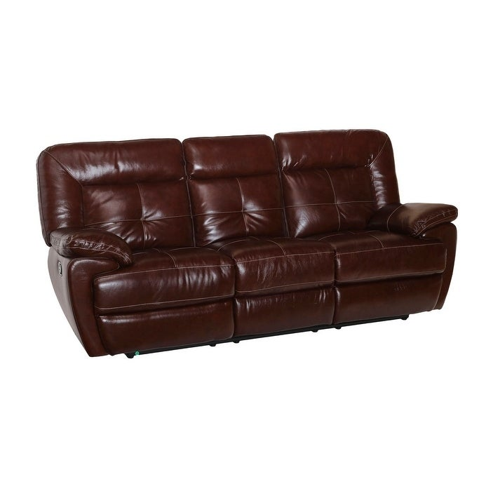 Coja Dale Leather Power Recliner Sofa, Brown (Foam)