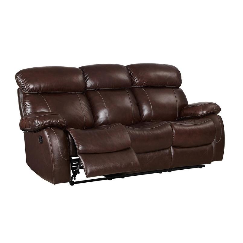 Coja Madras Leather Power Recliner Sofa, Brown (Foam)