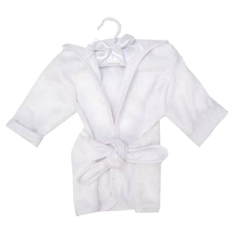 Trend Lab Color Terry Infant Robe - White