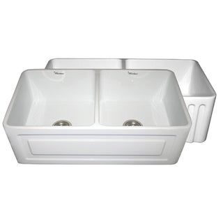 Whitehaus Collection Fireclay Double Bowl Sink