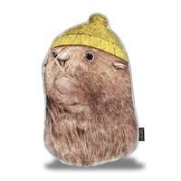 Lilipi Fur Seal Decorative Accent Throw Pillow