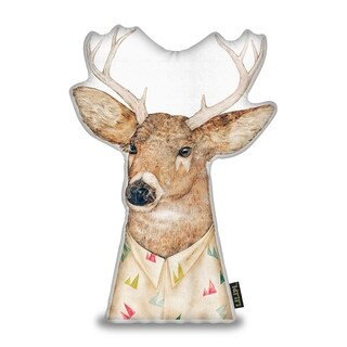 Lilipi White Tailed Deer Sh Decorative Accent Throw Pillow
