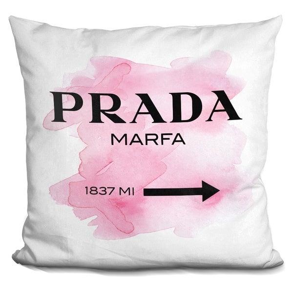 Shop Lilipi Prada Marfa Pink Clean Font Decorative Accent Throw Classy How Do You Clean Decorative Pillows