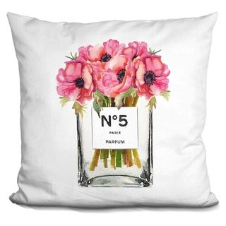 Lilipi Tall No5 Vase Red Poppy Decorative Accent Throw Pillow