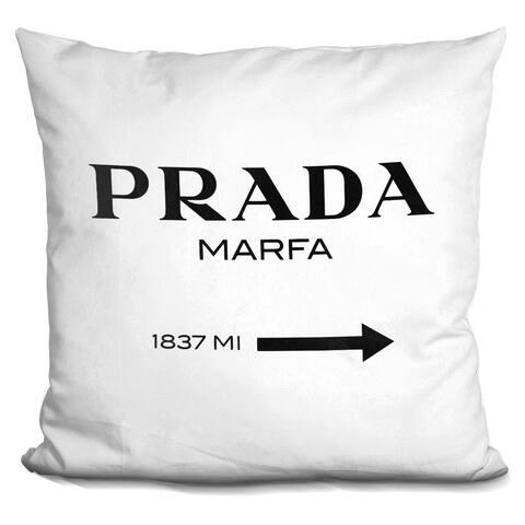 Lilipi Prada Marfa Black Decorative Accent Throw Pillow