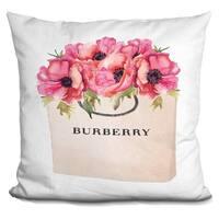 Lilipi Burberry Bag Poppy.. Decorative Accent Throw Pillow