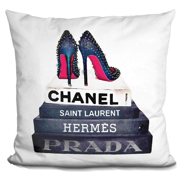 Lilipi Book Stack Stud Shoes.. Decorative Accent Throw Pillow