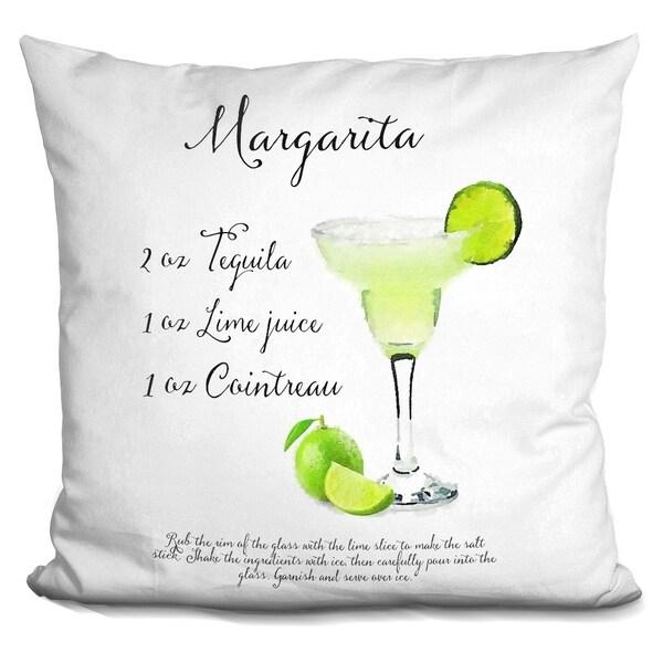 Lilipi Margarita Receipe Decorative Accent Throw Pillow