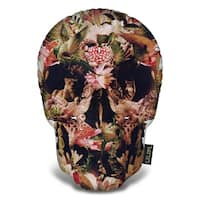 Lilipi Jungle Skull Decorative Accent Throw Pillow
