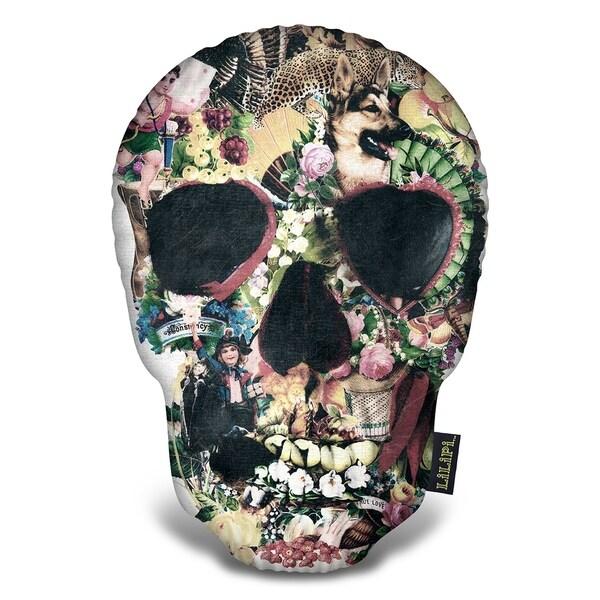 Lilipi Vintage Skull Decorative Accent Throw Pillow