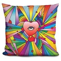 Lilipi Heart Eye Pop Decorative Accent Throw Pillow