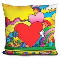 Lilipi Cosmic Heart Landscape Decorative Accent Throw Pillow