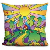 Lilipi Cosmic Trees Decorative Accent Throw Pillow